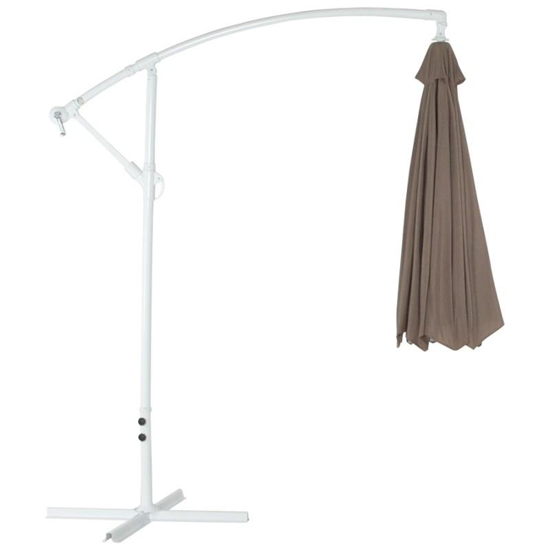 parasol d port octogonal alice en polyester et aluminium taupe. Black Bedroom Furniture Sets. Home Design Ideas