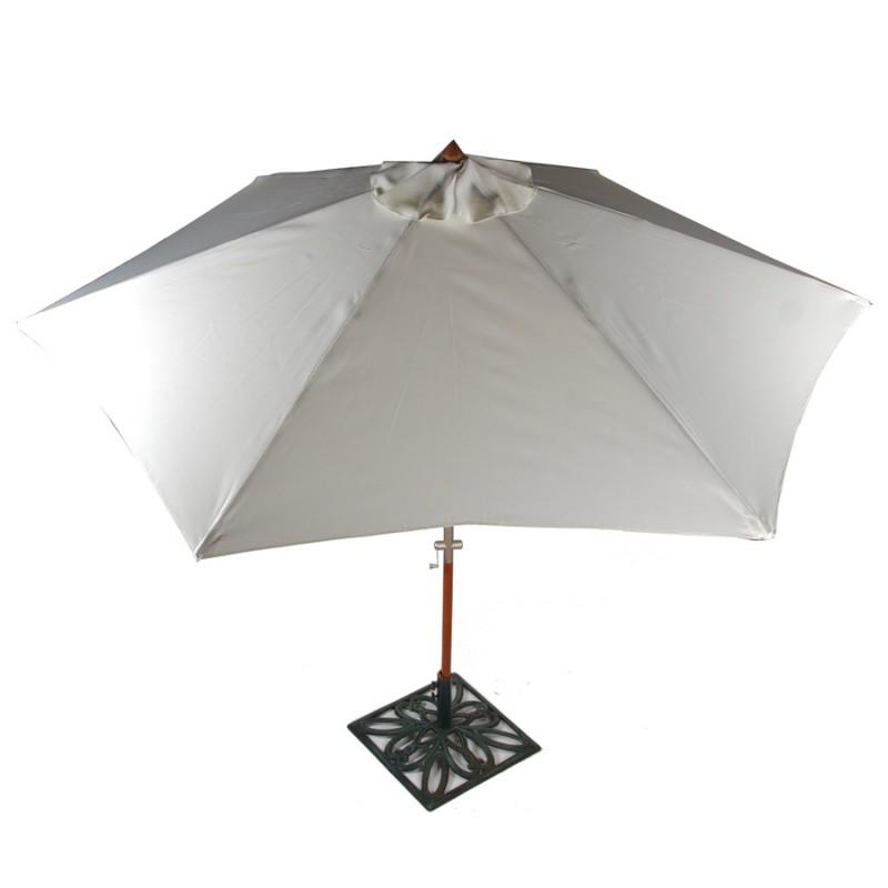 MILOU esagonale parasole in poliestere e legno indonesiano (naturale) - image 29387