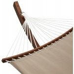 Hammock JULES arched foot in wood and removable canvas (mole)