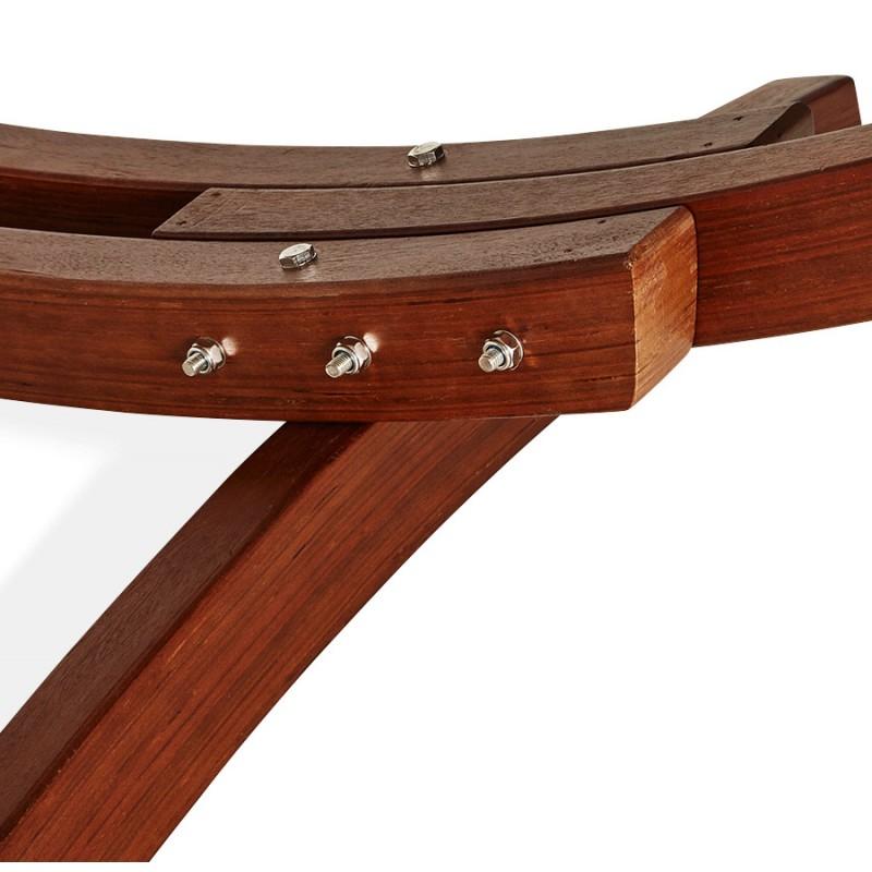 Hamac pied arqué JULES en bois et toile démontable (taupe) - image 29411