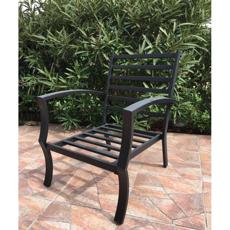 Lot de 4 chaises de jardin CROZET aspect fer forgé (noir) - image 29422