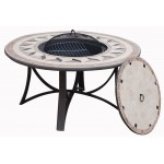Round Low Garden Moorea Aspect Black Wrought Iron Table
