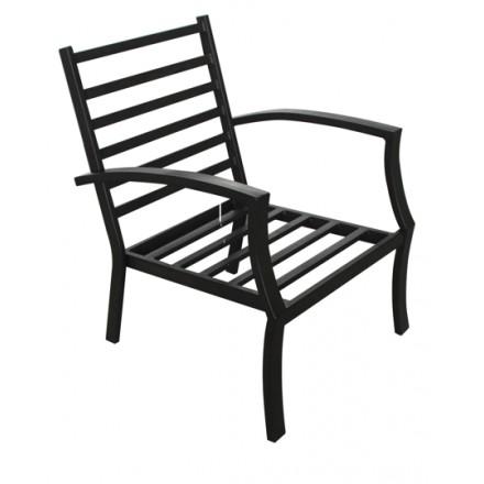 Salon de jardin table basse ronde + 4 chaises de jardin ELBE aspect ...