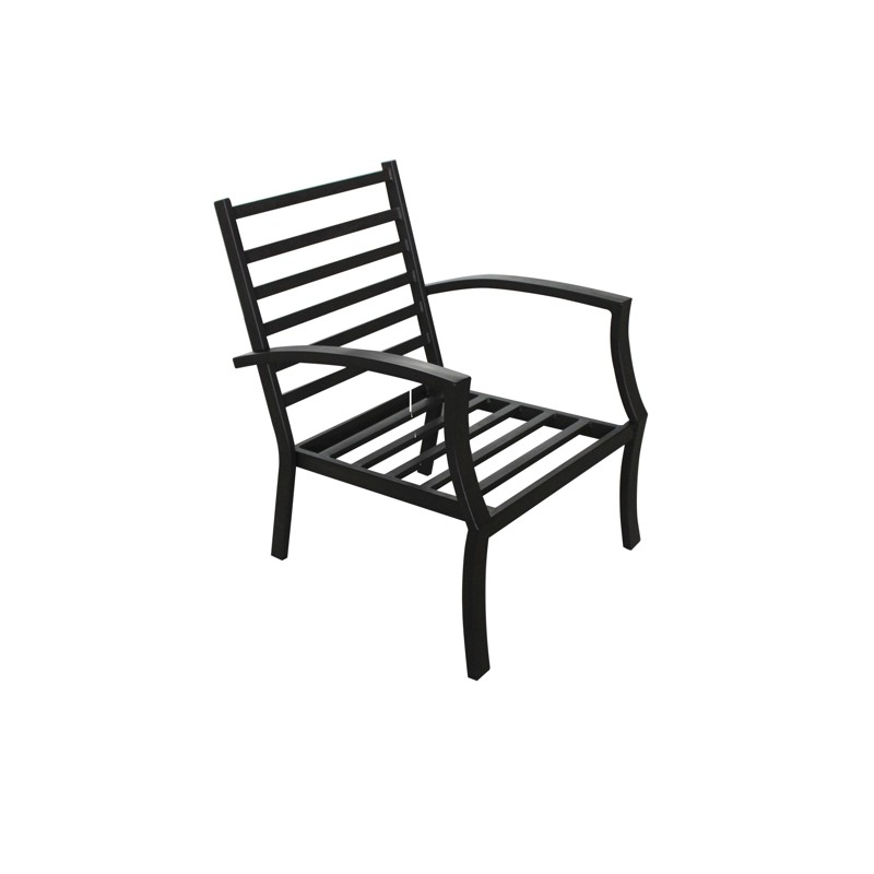 Salon de jardin table basse ronde 4 chaises filae aspect - Table de chevet fer forge noir ...