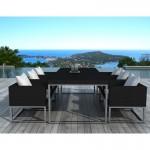table-a-manger-et-6-fauteuils-de-jardin-pueblo-en-resine-tressee-noir-coussins-blanc-ecru