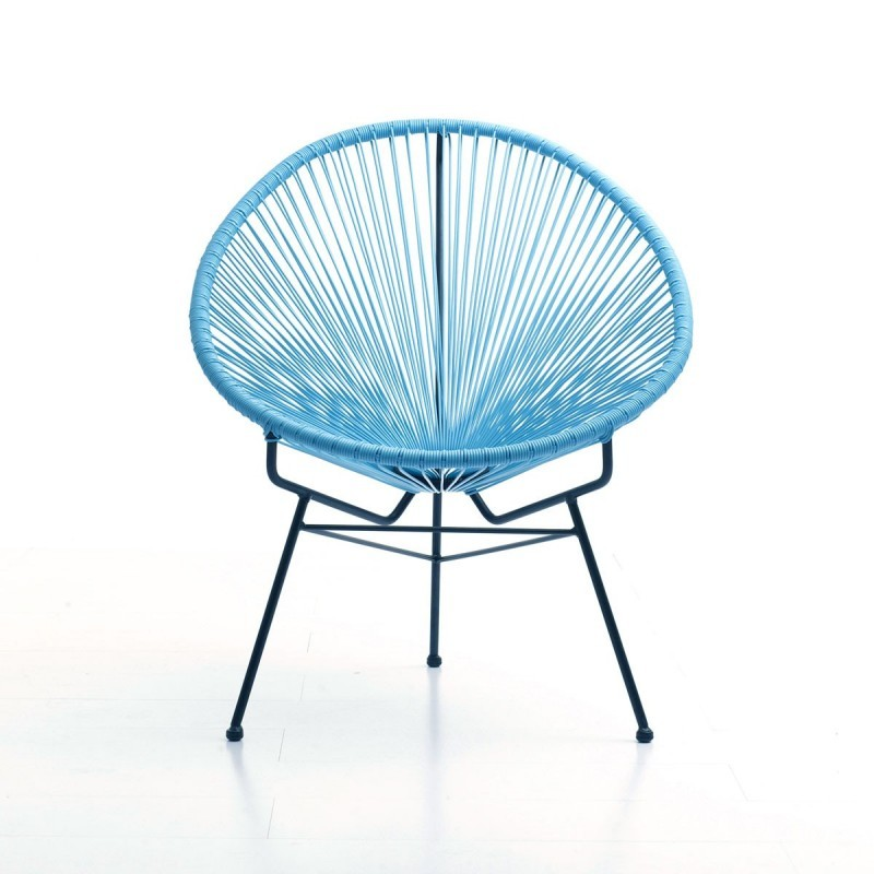 chair of garden mallorca round braided resin blue. Black Bedroom Furniture Sets. Home Design Ideas