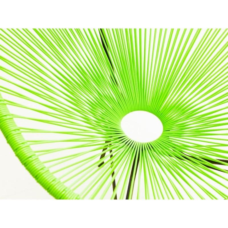 Fauteuil de jardin MAJORQUE en résine tressée ronde (vert) - image 29835