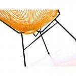 Fauteuil de jardin MAJORQUE en résine tressée ronde (orange)