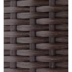 Resina di mobili da giardino 5 piazze SEVILLE intrecciato (Brown, cuscini blu)