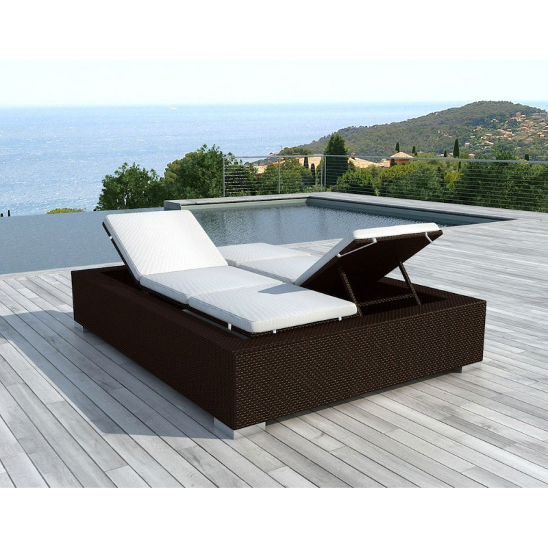 bain de soleil transat 2 places 5 positions cadix en. Black Bedroom Furniture Sets. Home Design Ideas