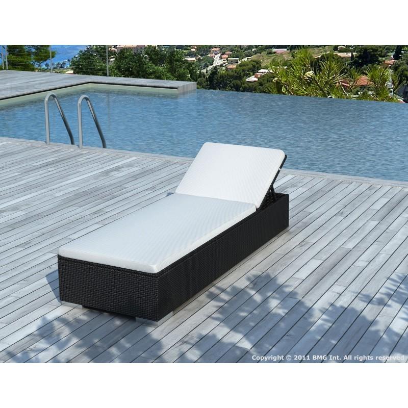 Bain de soleil transat 5 positions cordoba en r sine for Transat bain de soleil blanc