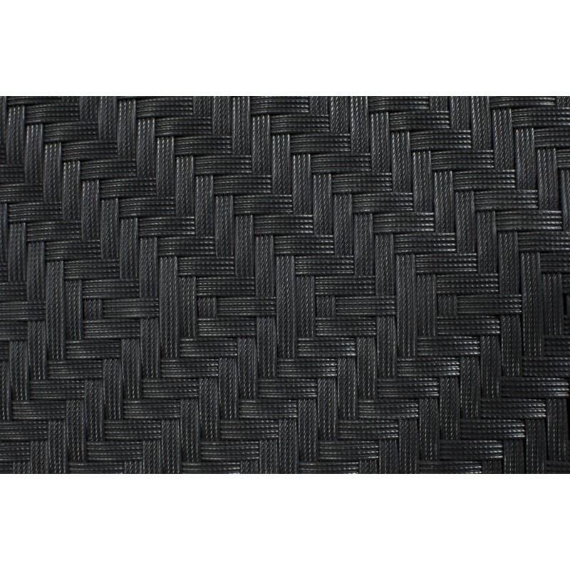 Ensemble transat et table basse de jardin CABO en résine tressée (noir) - image 30010