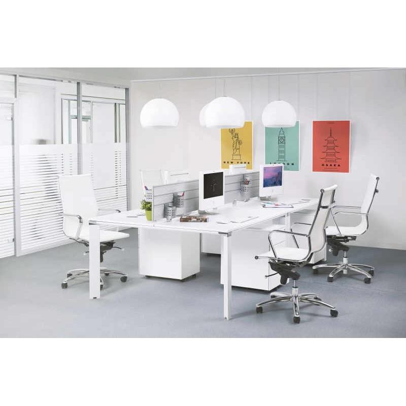 Bureau droit design BOUNY en bois (blanc) - image 30039