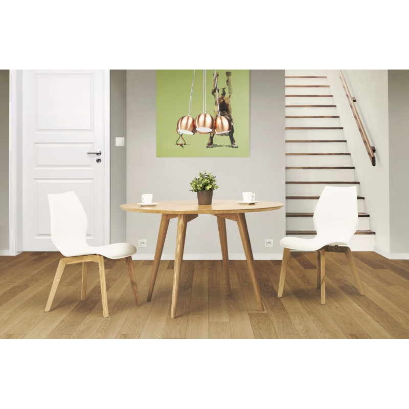 table manger style scandinave ronde pony en bois 120. Black Bedroom Furniture Sets. Home Design Ideas