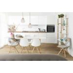 Moderner Stuhl Stil skandinavischen NORDICA (weiß)