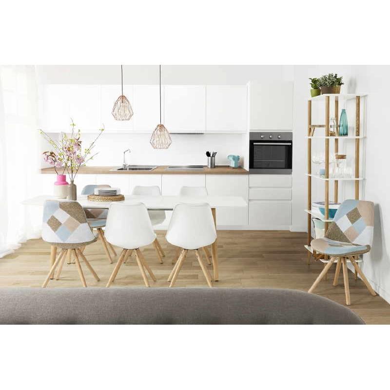 Etagère bibliothèque design style scandinave ERIKA en bois (blanc) - image 30047