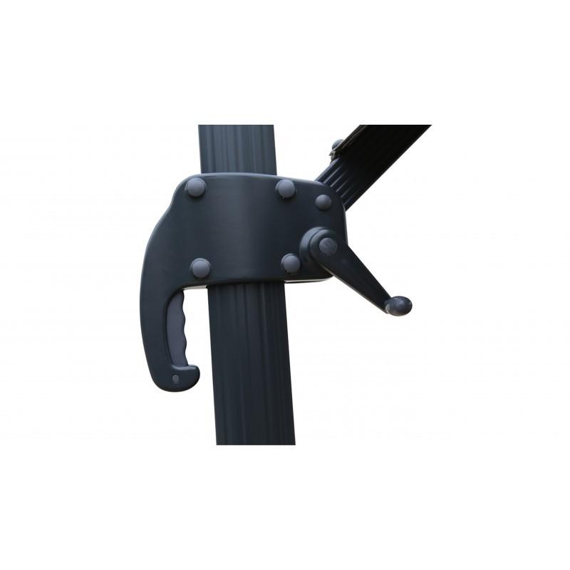 Parasol déporté carré avec ventilation 3m x 3m CESAR (gris) - image 30066