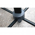 Parasol déporté carré avec ventilation 3m x 3m CESAR (gris)