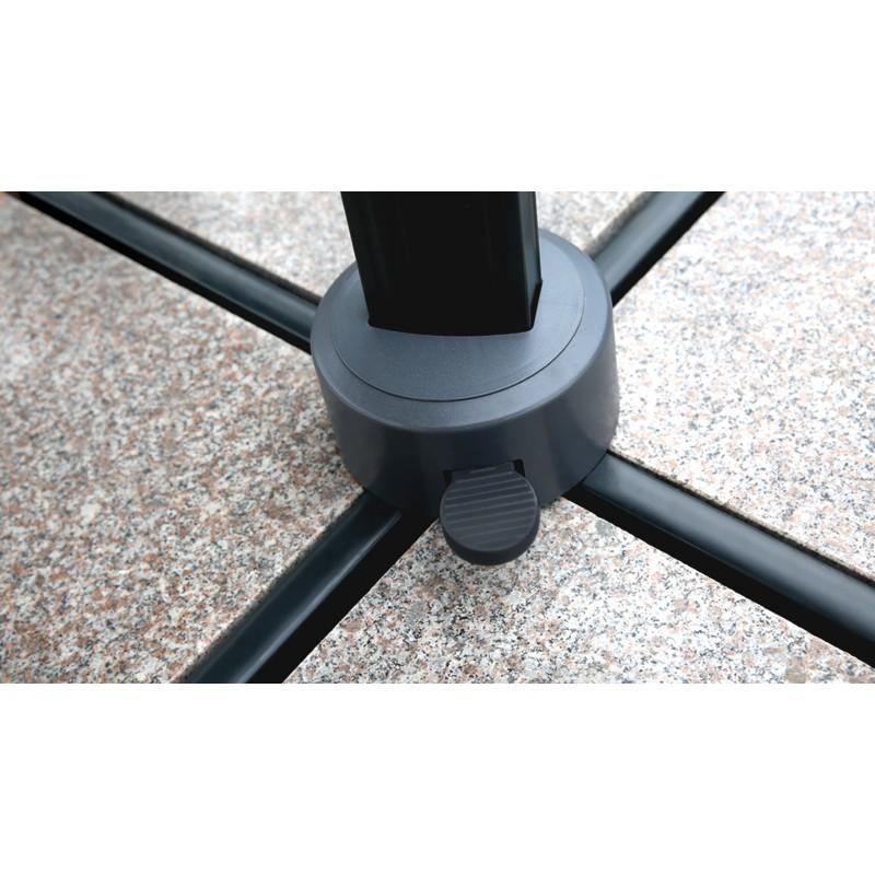 Parasol déporté carré avec ventilation 3m x 3m CESAR (gris) - image 30067