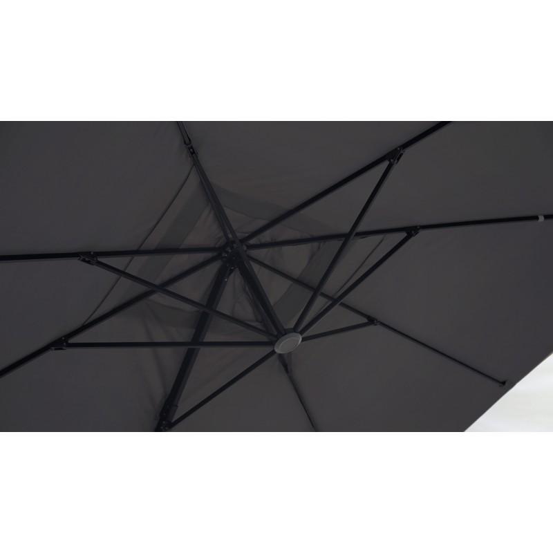 Parasol déporté carré avec ventilation 3m x 3m CESAR (gris) - image 30068