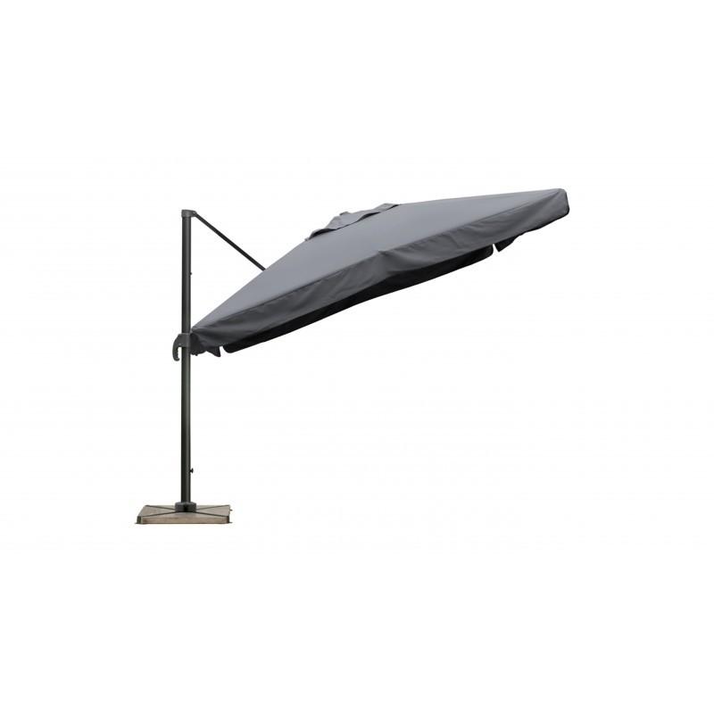 Parasol déporté carré avec ventilation 3m x 3m CESAR (gris) - image 30069
