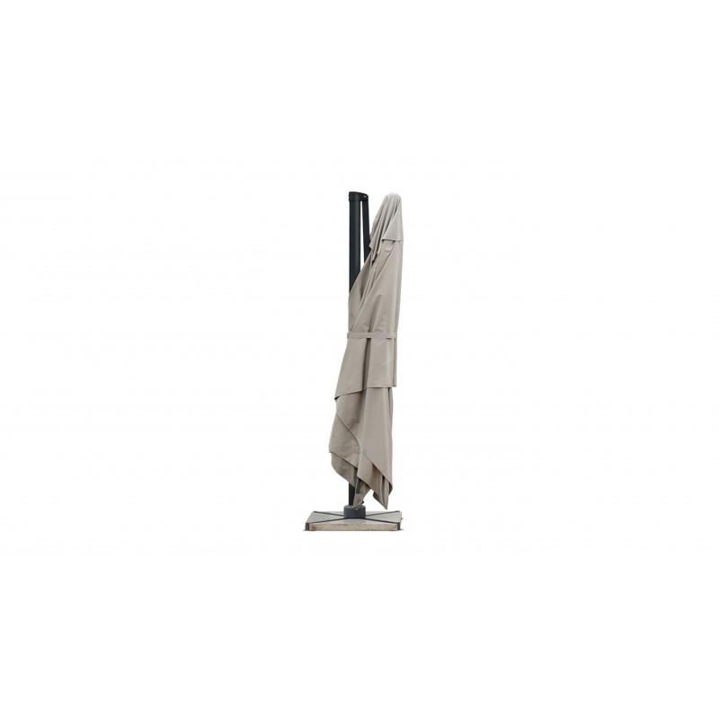 Parasol déporté carré avec ventilation 3m x 3m CESAR (taupe) - image 30078