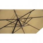Parasol déporté avec ventilation 3m x 4m LEONIE (beige)