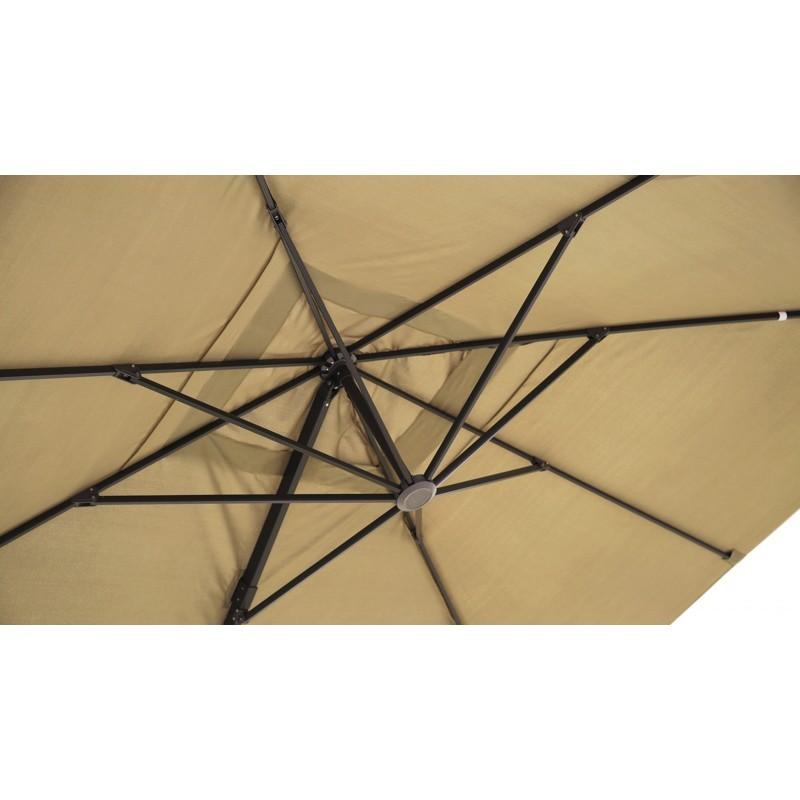 Parasol déporté avec ventilation 3m x 4m LEONIE (beige) - image 30096