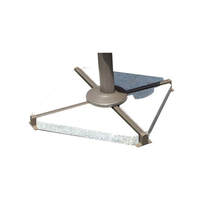 4 dreieckige Platten aus Granit für Sonnenschirm FILIP (grau)