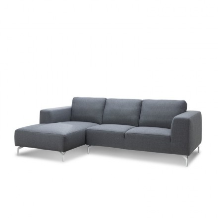 Corner sofa design left 4 side seats with Meridian ORIANE in fabric (grey)