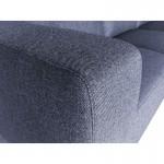 Canapé d'angle côté Gauche design 4 places avec méridienne  ORIANE en tissu (gris)