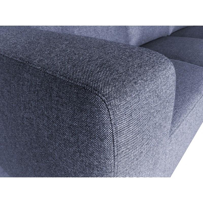 Canapé d'angle côté Gauche design 4 places avec méridienne  ORIANE en tissu (gris) - image 30116