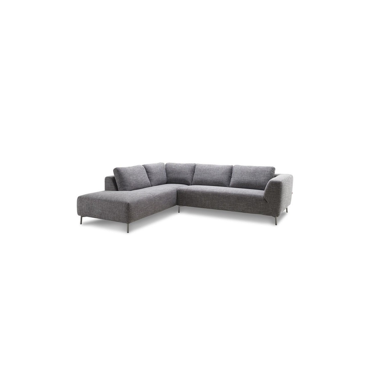 Corner Sofa Design Left 5 Places With Justine Chaise In Fabric Light Grey Amp Story 4165