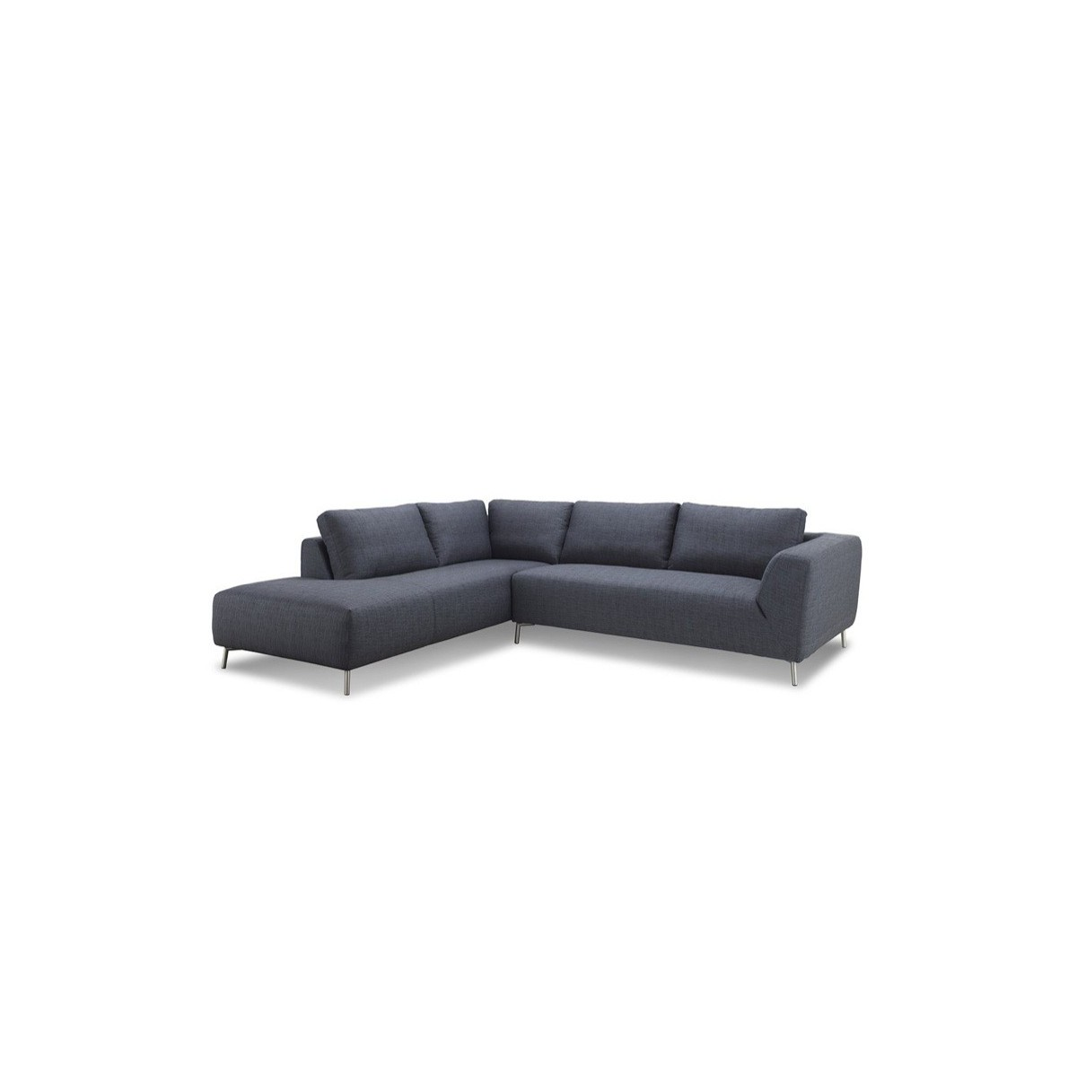 Corner Sofa Design Left 5 Places With Justine Chaise In Fabric Dark Gray Amp Story 4167