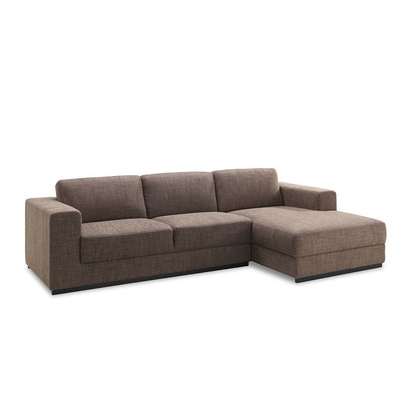 Wondrous Corner Sofa Design Right Side 4 Seater With Chaise Magalie In Fabric Brown Couch D Angle Uwap Interior Chair Design Uwaporg