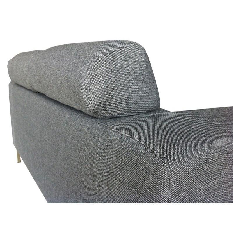 Canapé droit fixe design 3 places CHARLINE en tissu (gris) - image 30165