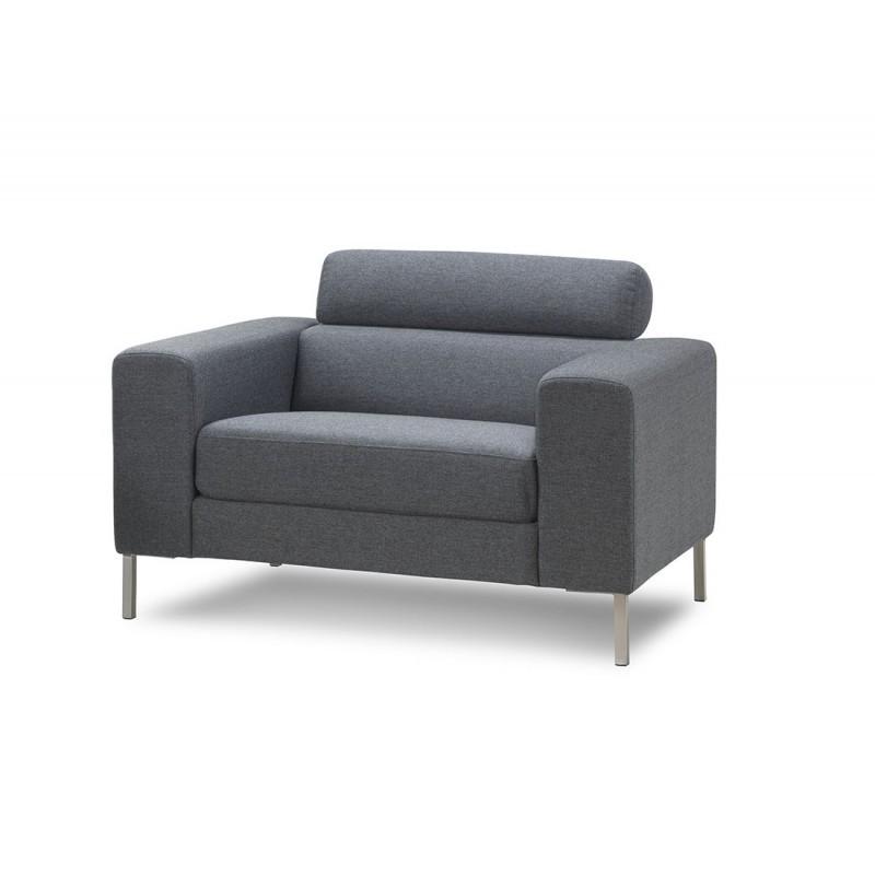 Fauteuil design CHARLINE en tissu (gris) - image 30171