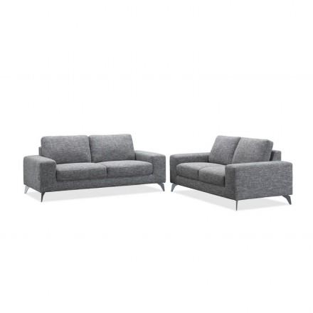 Design Right Sofa 3 Places Albert Fabric Light Grey Amp Story 4185