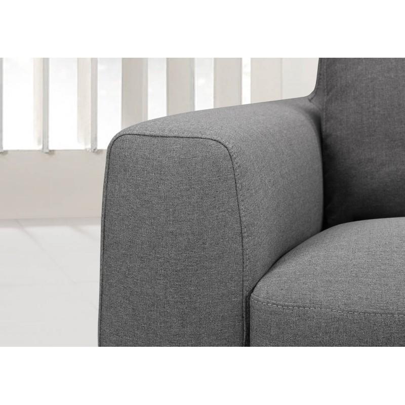 Canap d 39 angle c t droit design 3 places avec m ridienne - Canape d angle droit tissu ...