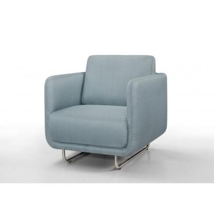 Vintage kubische JONAZ (hellblau) Stoff Stuhl