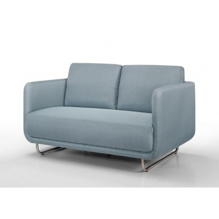 Sofa Vintage Cubic Right 2 Places Jonaz In Fabric Light Blue Amp Story 4200