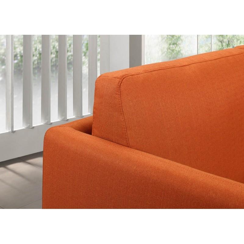 Canapé droit vintage cubique 2 places JONAZ en tissu (orange) - image 30295