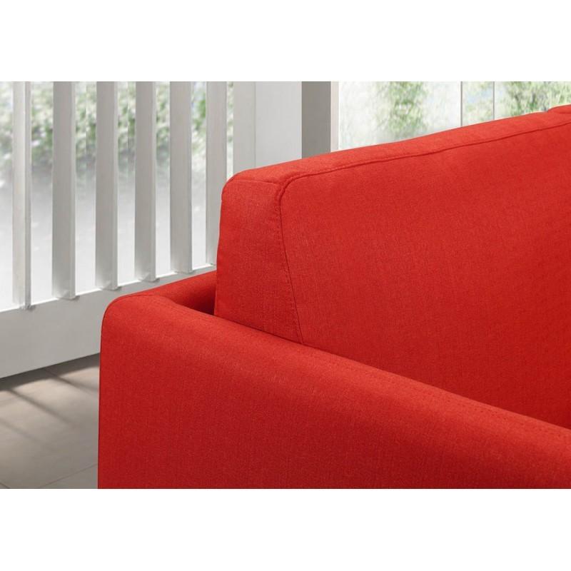 Canapé droit vintage cubique 2 places JONAZ en tissu (rouge) - image 30302