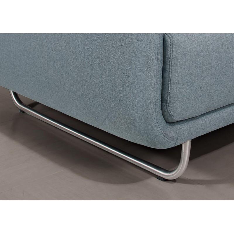 Canapé droit vintage cubique 3 places JONAZ en tissu (bleu clair) - image 30314