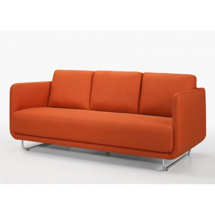 Sofa Vintage Cubic Right 3 Places Jonaz In Fabric Orange Amp Story 4205