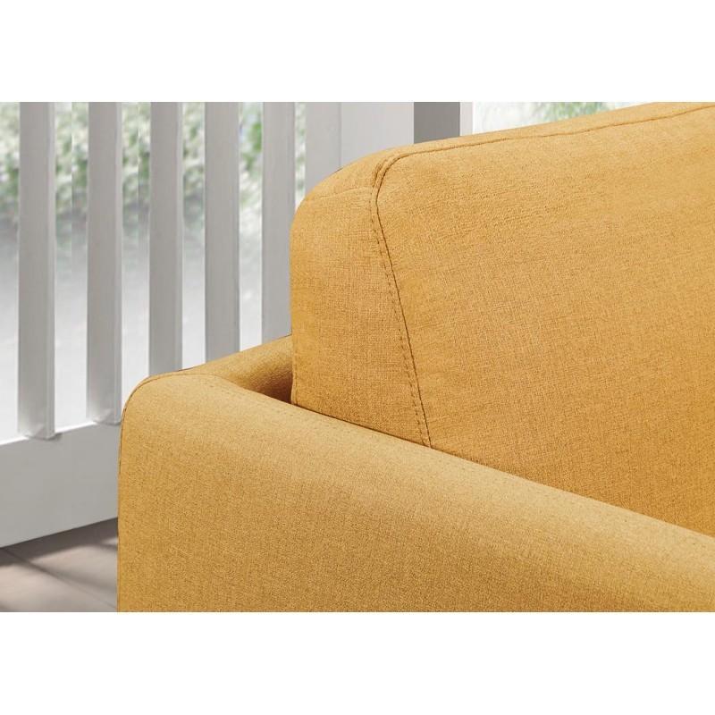Canapé droit vintage cubique 3 places JONAZ en tissu (jaune) - image 30331