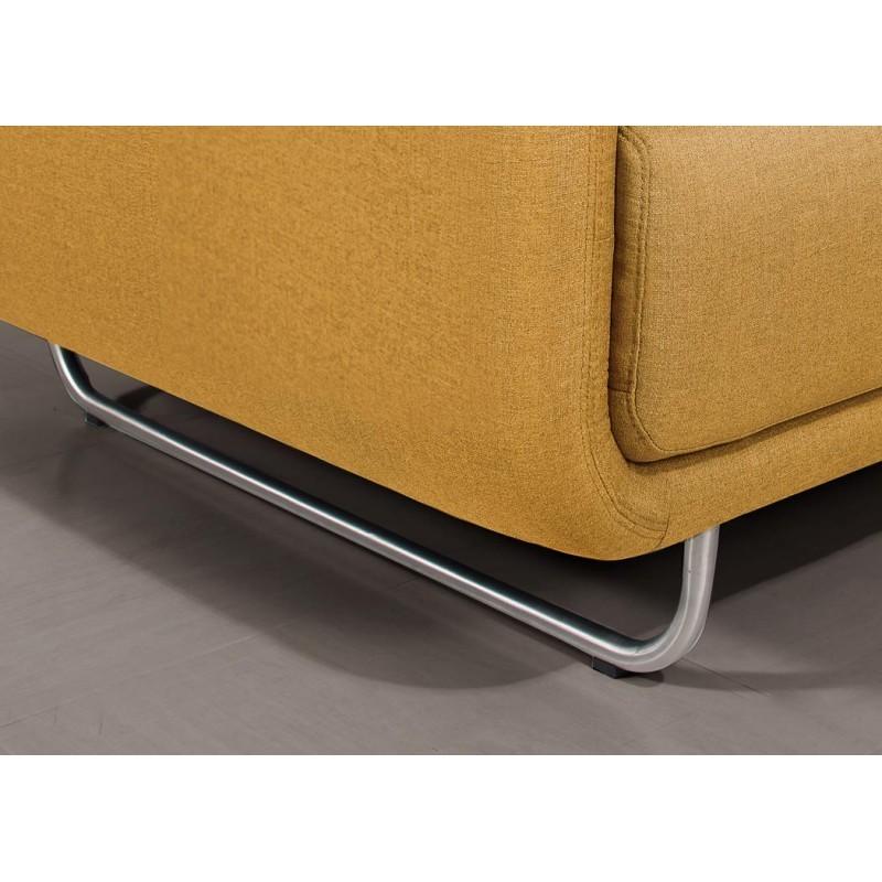 Canapé droit vintage cubique 3 places JONAZ en tissu (jaune) - image 30332