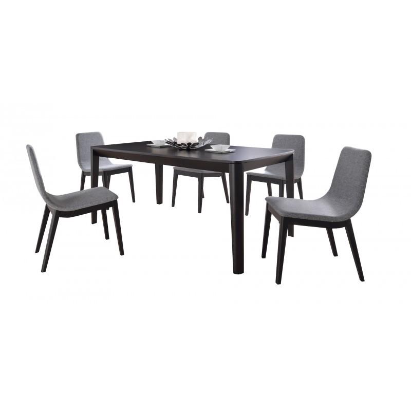 lot de 2 chaises contemporaines enzo en tissu gris clair. Black Bedroom Furniture Sets. Home Design Ideas