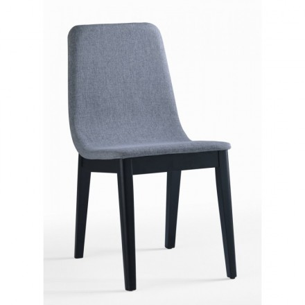 Set of 2 contemporary chairs ENZO in fabric (light gray)