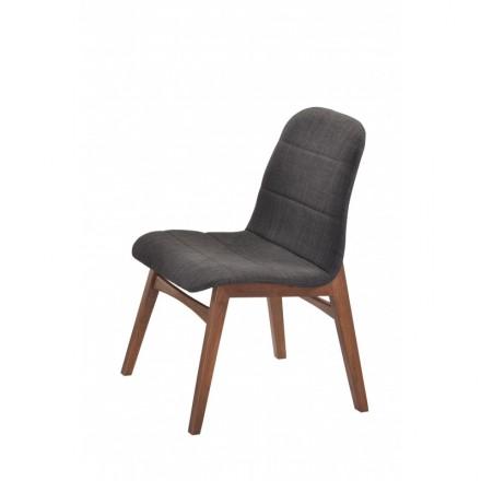 lot de 2 chaises contemporaines fisson en tissu gris anthracite. Black Bedroom Furniture Sets. Home Design Ideas